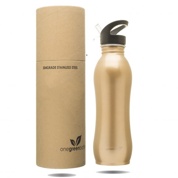 stainless steel gold curvy bottle