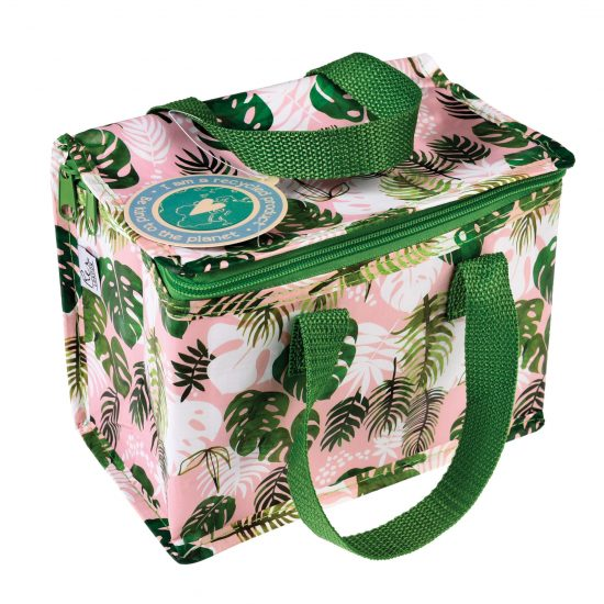 tropical palm lunchbag recycled bottles