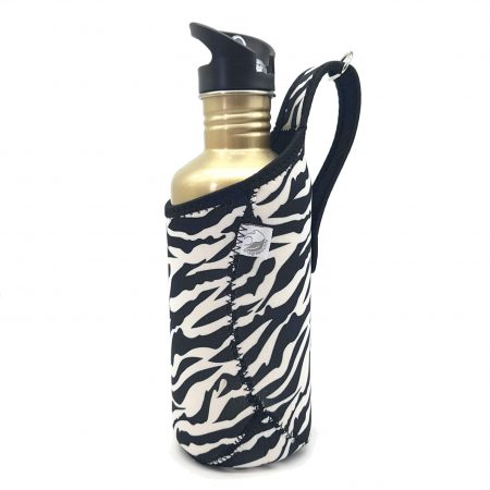 1200ml zebra jacket stainless steel bottle carrier