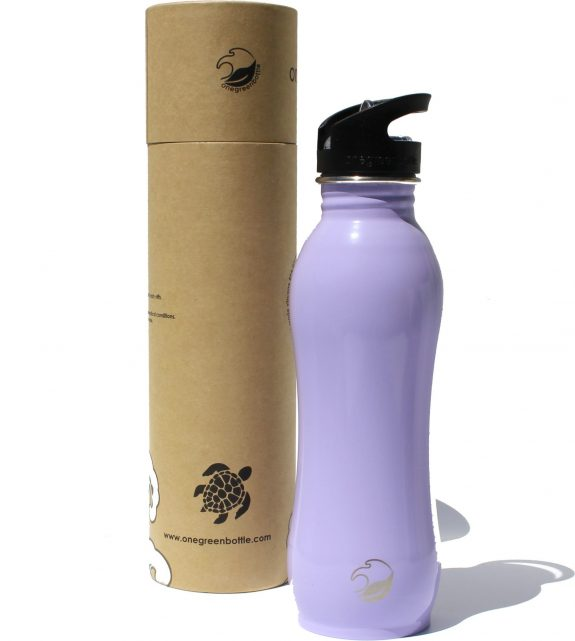 2018 800ml Lilac curvy stainless steel bottle