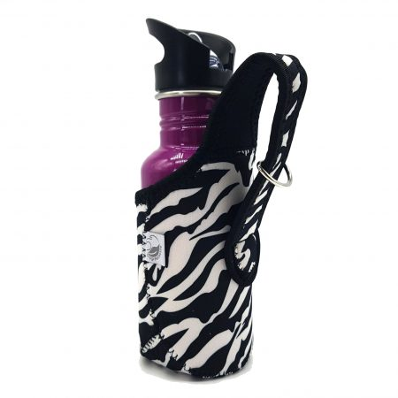 500ml Zebra jacket stainless steel bottle carrier onegreenbottle 2
