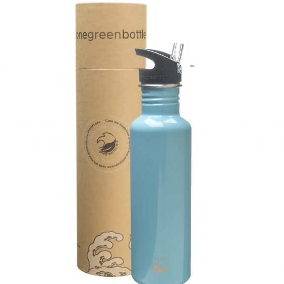 800ml ice blue stainless steel bottle tough canteen onegreenbottle