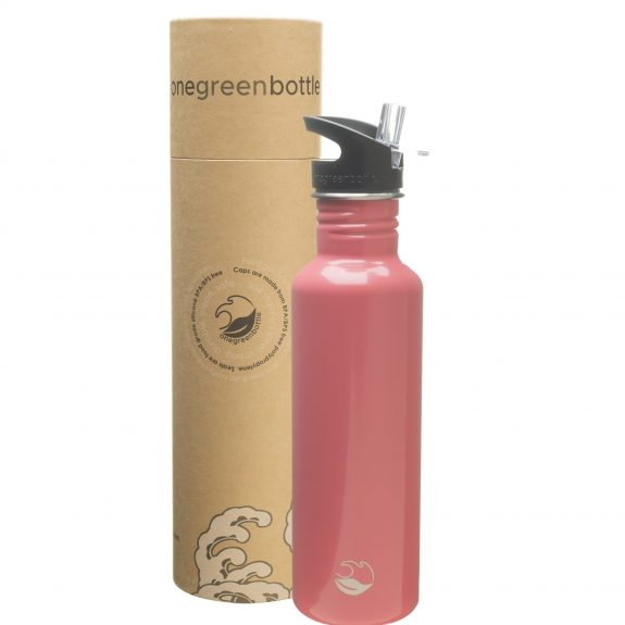 pink stainless steel bottle tough canteen onegreenbottle