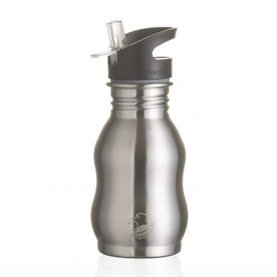 curvy stainless steel bottle