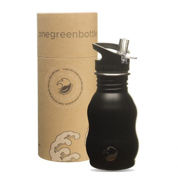 350ml powder black stainless steel bottle onegreenbottle