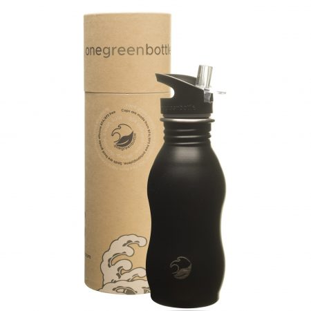 powder black stainless steel bottle onegreenbottle