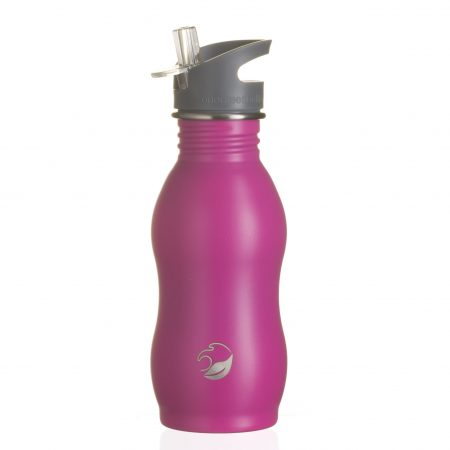 raspberry powder stainless steel bottle