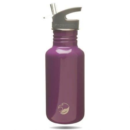 Magenta stainless steel water bottle