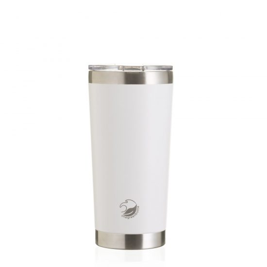 Thermal mug white insulated stainless steel travel mug
