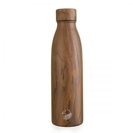 500ml thermal insulated teak wood stainless steel bottle