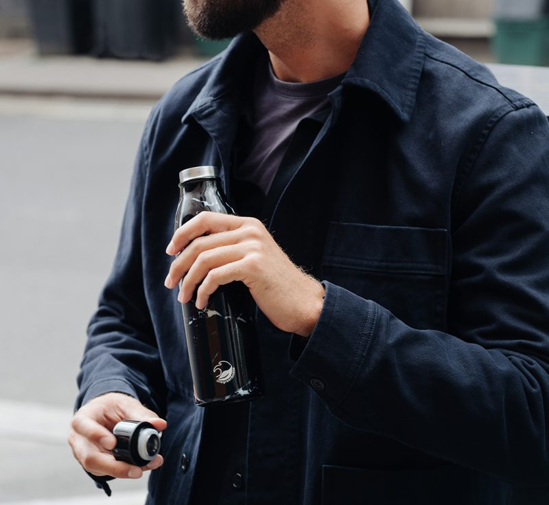 insulated marble bottle