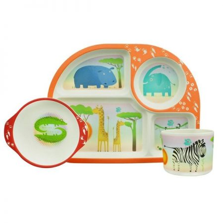 bamboo kids dining set transport