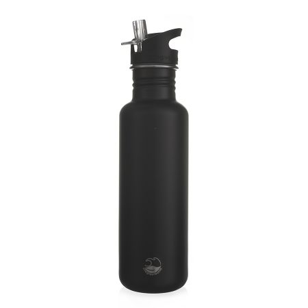 800ml black powder coated stainless steel bottle