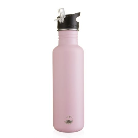 800ml powder pink stainless steel bottle