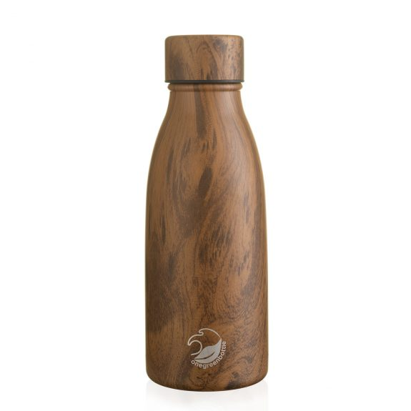 thermal insulated stainless steel teak wood bottle
