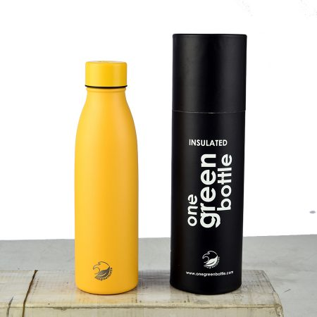 thermal insulated bottle yellow