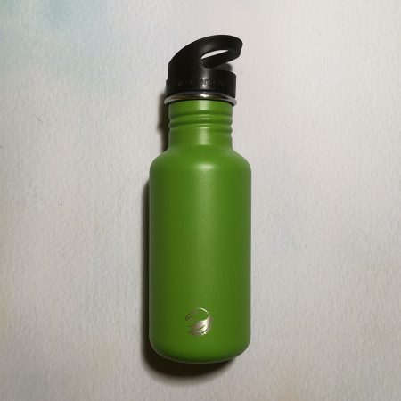 green stainless steel bottle