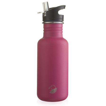500ml hot pink stainless steel bottle