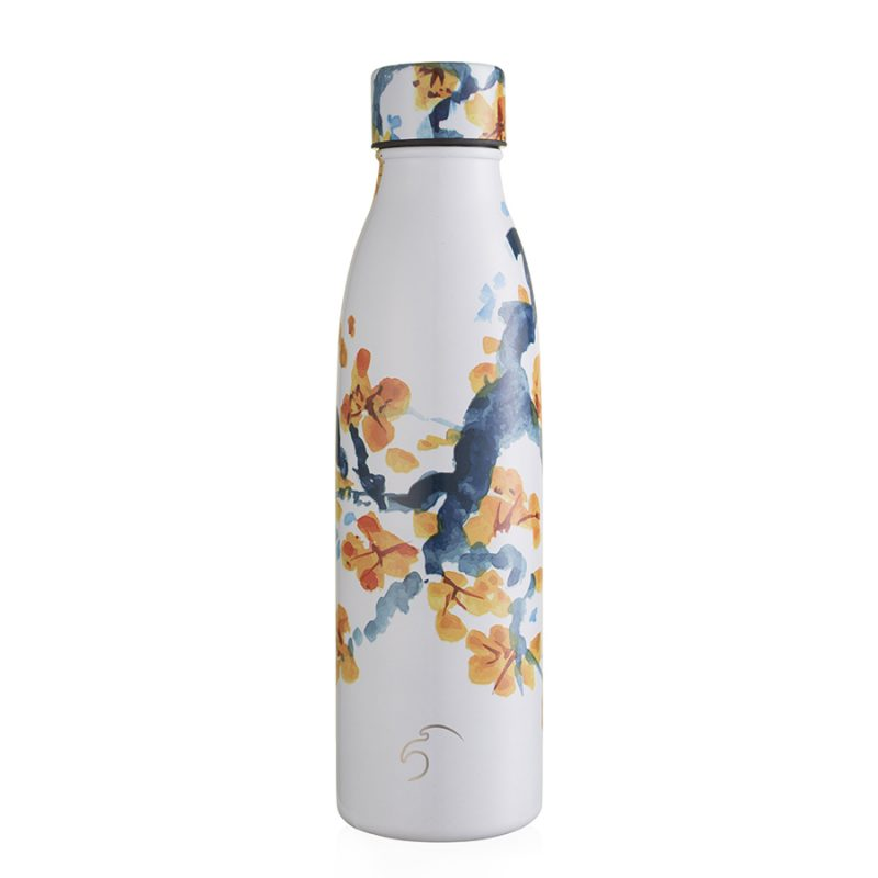 500ml peach blossom insulated thermal bottle