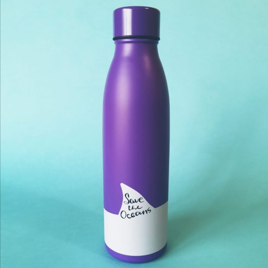 save the oceans stainless steel bottle