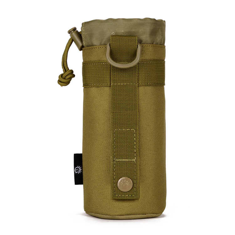 tactical military style khaki water bottle carrier