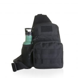 Stylish black bottle bag
