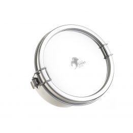circular leakproof lunchbox stainless steel