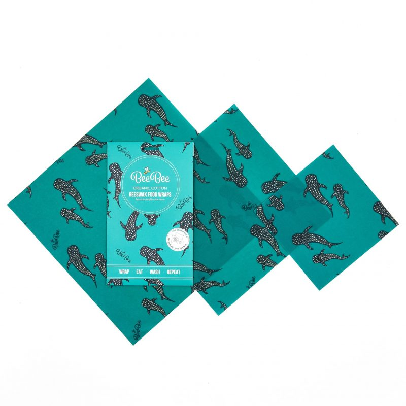 The Mixed Pack Whale Pod BeeBee Wraps Beeswax Wraps Plastic Free Organic Cotton Clingfilm Alternative