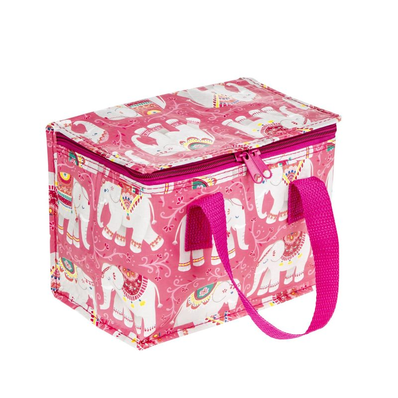 Mandala elephant print foil insulated lunch bag made from recycled plastic