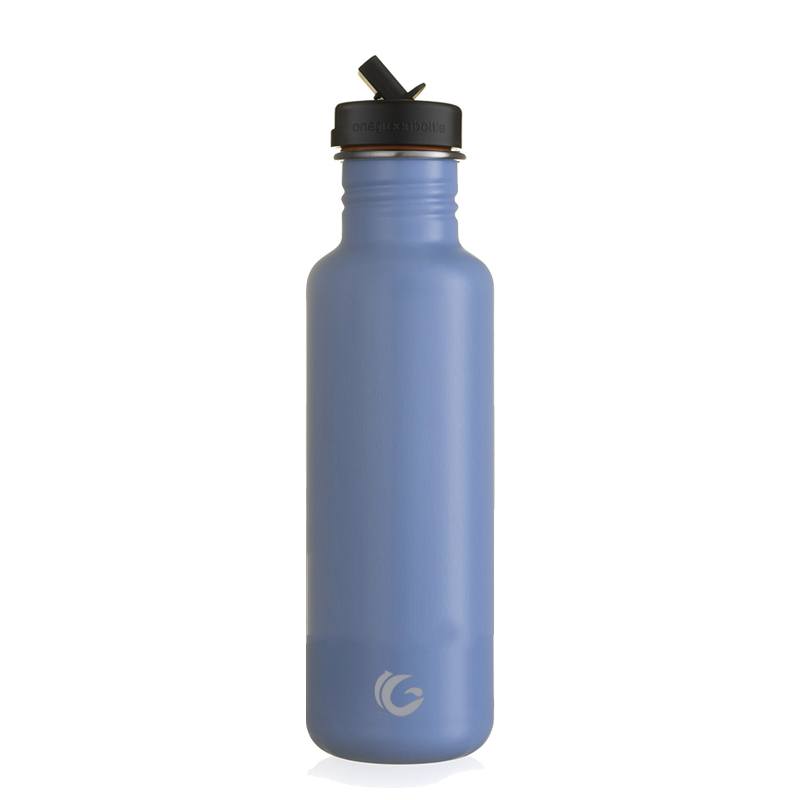800ml celeste blue tough canteen with sports cap and straw