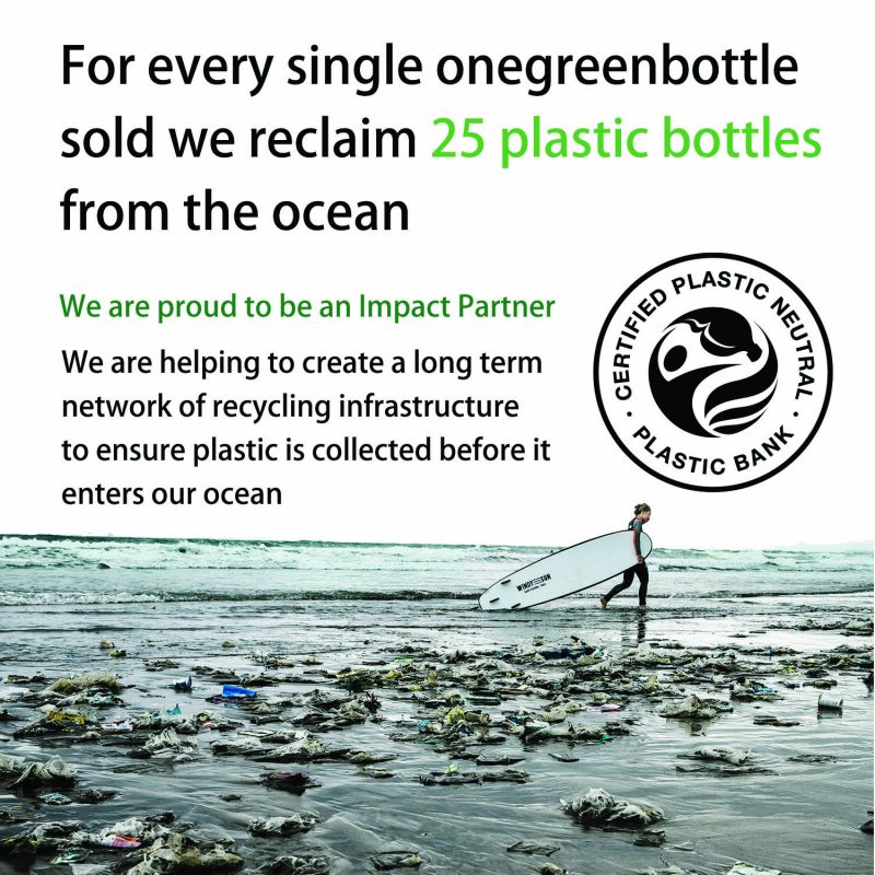 onegreenbottle impact partner plastic bank