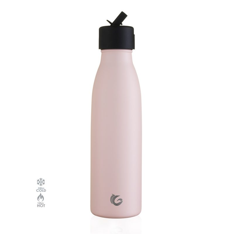 500ml pink life sports stainless steel bottle insulated 24hr cold