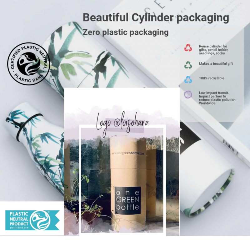 zero plastic recyclable cylindrical packaging