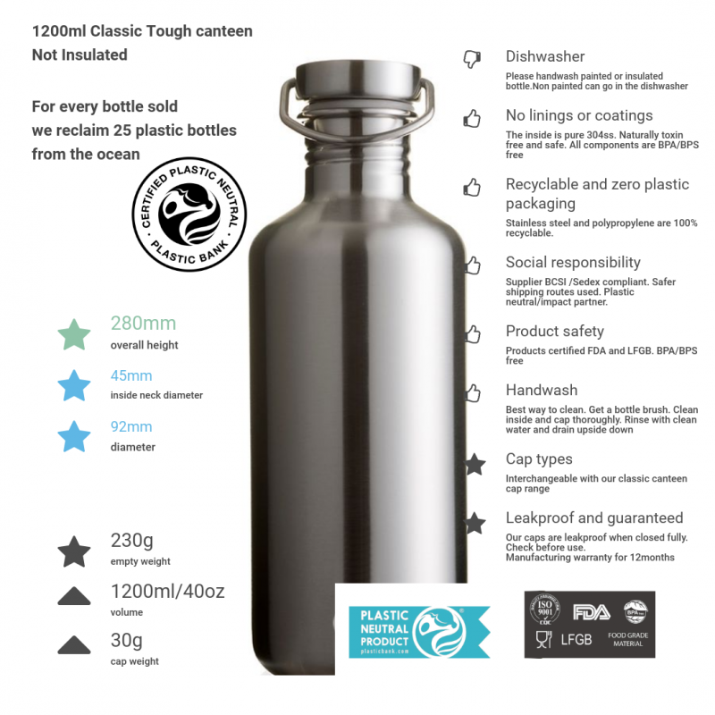 steel cap 1200ml all steel tough canteen and product details