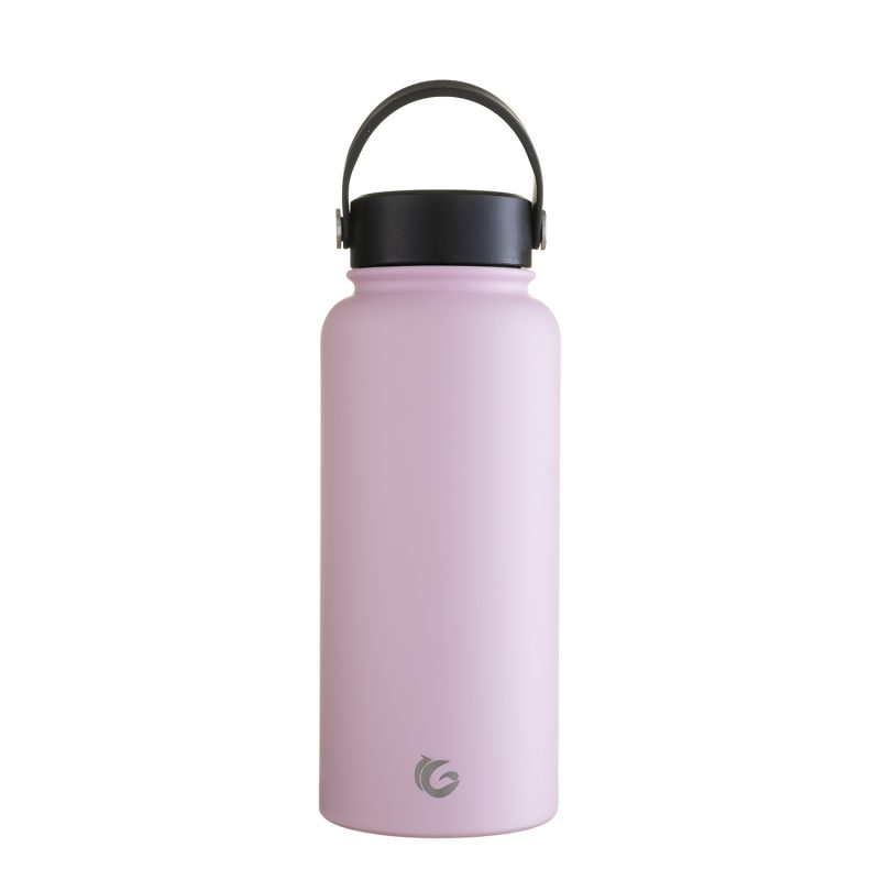 1 Litre bashful Pink stainless steel insulated bottle