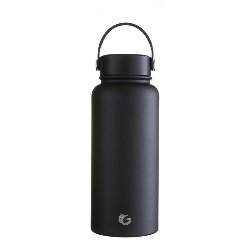1 litre Epic liquorice stainless steel insulated bottle