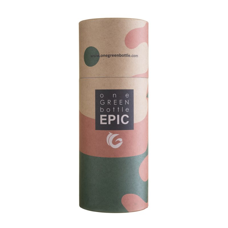 cylindrical recyclable packaging for epic