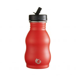 350ml underground red stainless steel curvy reusable canteen