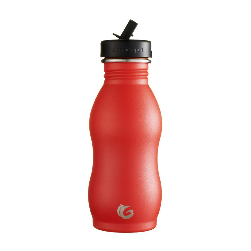 500ml Underground red stainless steel bottle Classic Curvy canteen onegreenbottle