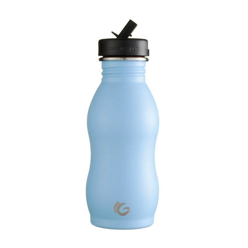 500ml hudson blue stainless steel bottle Classic Curvy Canteen onegreenbottle
