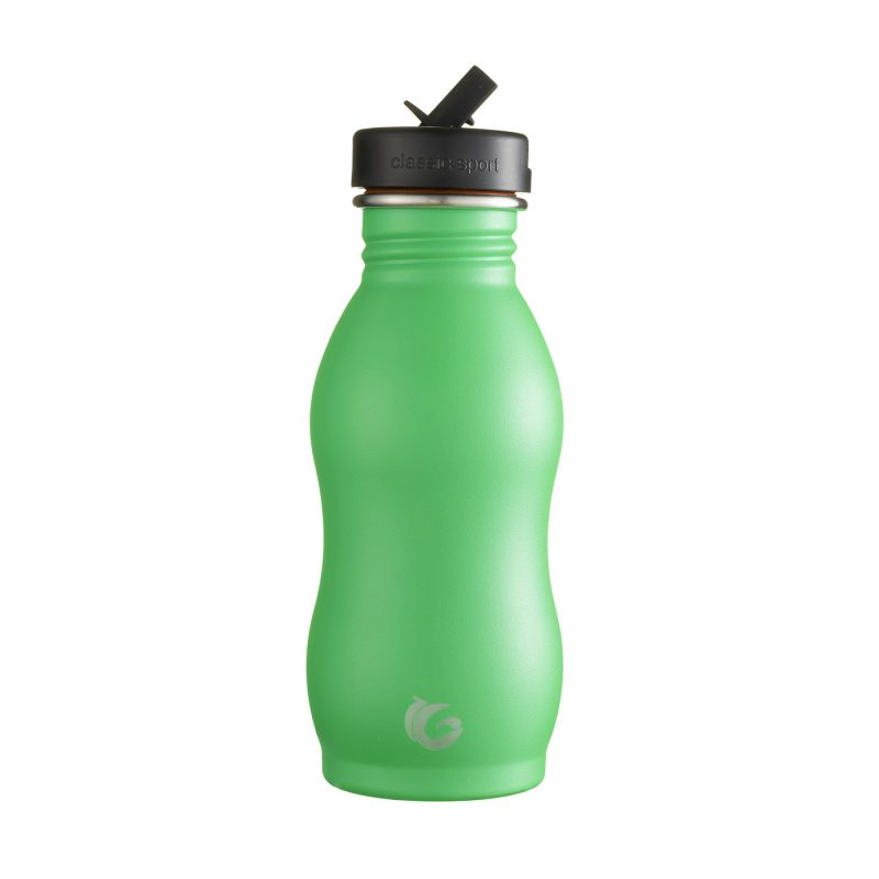 500ml pickle green stainless steel curvy canteen onegreenbottle