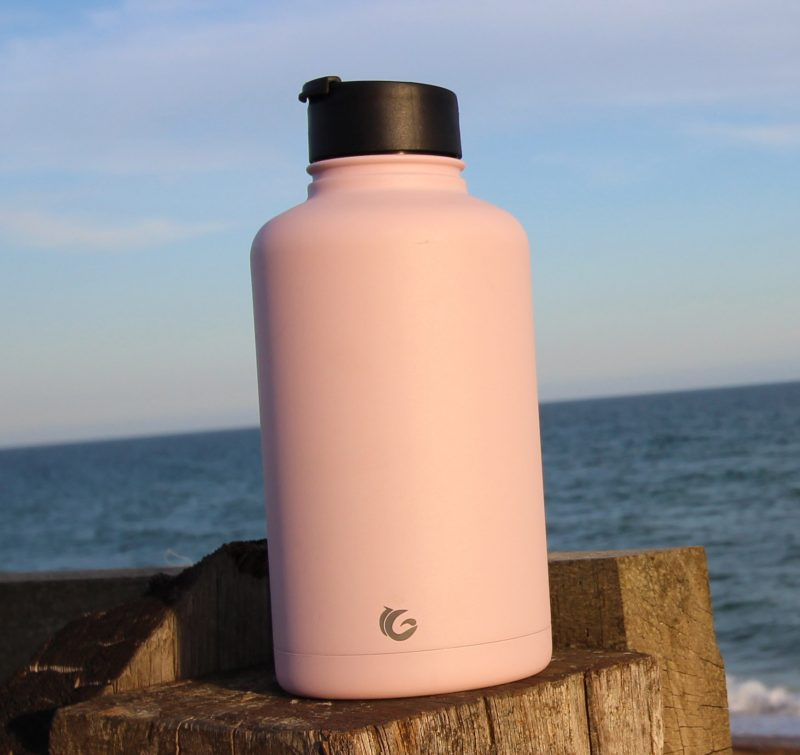 2000ml bashful pink epic stainless steel bottle with sports cap