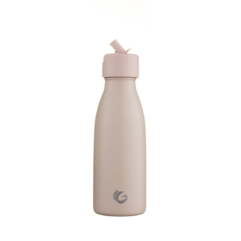 350ml pompom tan stainless steel vacuum insulated life collection onegreenbottle