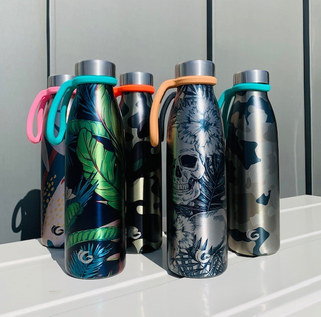 Special editions 750ml stainless steel bottle with sloops