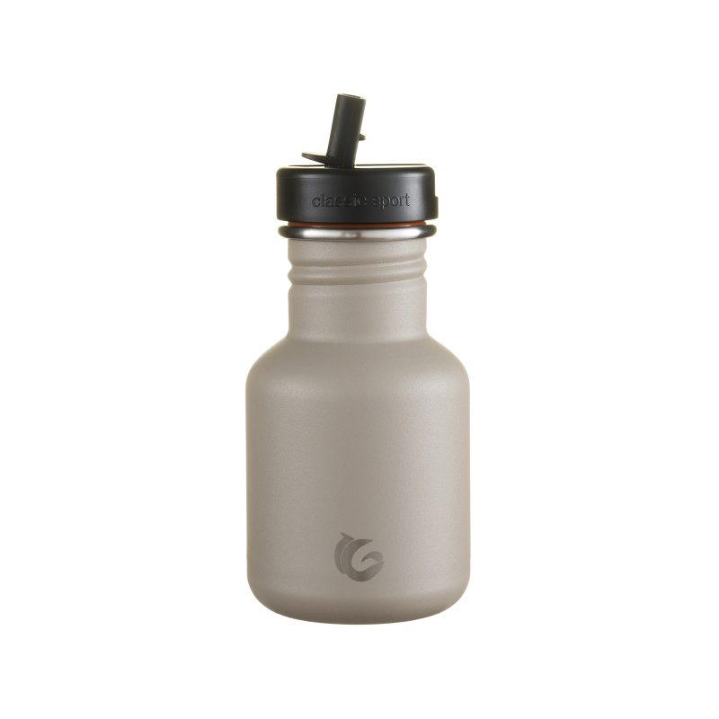 Kids grey water bottle- thunder stainless steel tough canteen eco