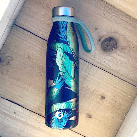 750ml jungle luxe print sustainable bottle with sloop