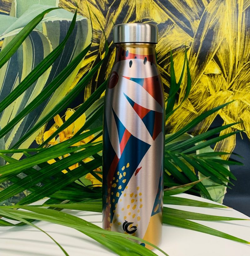 500ml Miami Margot stainless steel abstract bottle