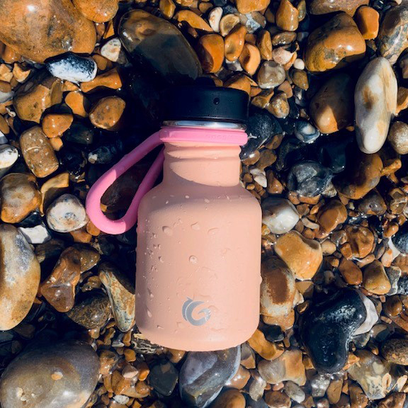 350ml piglet tough canteen with pink sloop