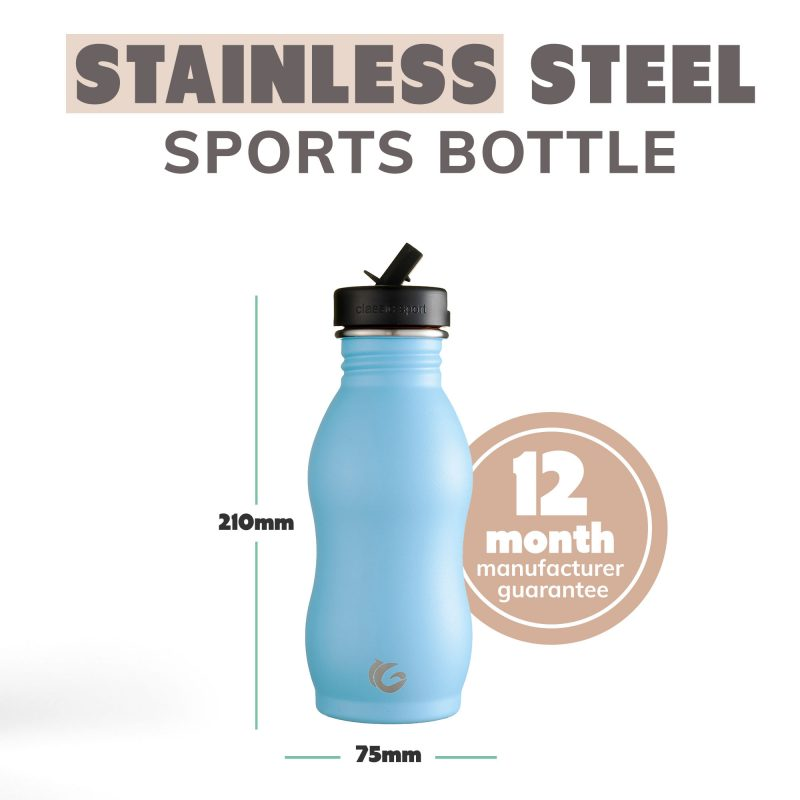 blue curvy stainless steel onegreenbottle