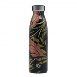 tropical print water bottle